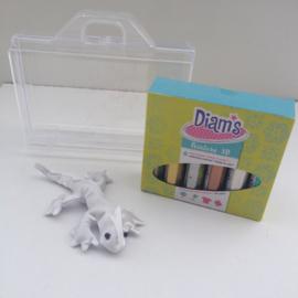 Diam's 3D verf pimp je eigen creepy animal  knutselpakket