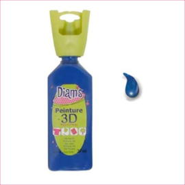 Diam's 3D verf glanzend donker blauw 37 ml