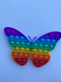 Fidget Toys Pop It regenboog vlinder