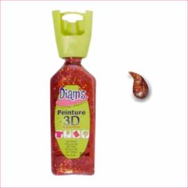 Diam's 3D verf dekkend glitter koper 37 ml