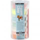 Foam Clay, kleuren assorti, glitter, 6x14gr