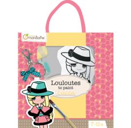 Avenue Mandarine Louloutes Lucia ontwerp je eigen gelukspoppetje tassenhanger