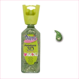 Diam's 3D verf dekkend glitter citroen groen 37 ml