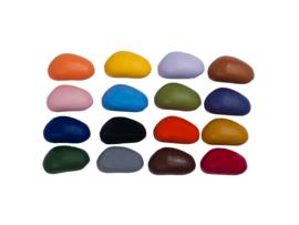 Crayon Rocks katoenen zakje ecru met  16 kleuren soja waskrijtjes