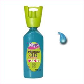 Diam's 3D verf glanzend petrol 37 ml