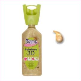 Diam's 3D verf parelmoer licht goud 37 ml