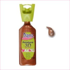 Diam's 3D verf parelmoer koper 37 ml