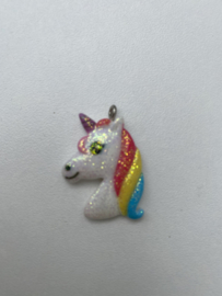 Kawaii bedel Unicorn hoofd glitter