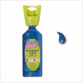 Diam's 3D verf dekkend glitter nacht blauw 37 ml