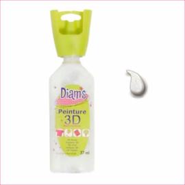 Diam's 3D verf transparant glitter opaal 37 ml