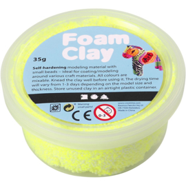 Foam Clay, Neon geel 35 gr