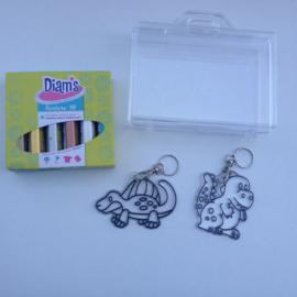 Diam's 3D verf pimp je eigen sleutelhanger knutselpakket