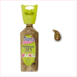 Diam's 3D verf dekkend glitter goud 37 ml