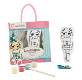Avenue Mandarine Louloutes Lea ontwerp je eigen gelukspoppetje tassenhanger