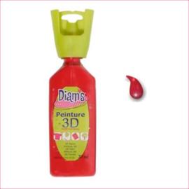 Diam's 3D verf glanzend rood 37 ml
