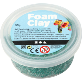 Foam Clay, donkergroen 35 gr