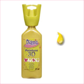 Diam's 3D verf parelmoer warm geel 37 ml