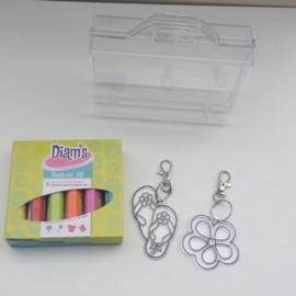 Diam's 3D verf pimp je eigen sleutelhanger knutselpakket (meisjes)