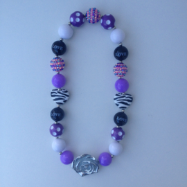 Kralenketting Pure & Purple