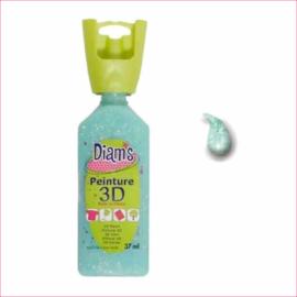 Diam's 3D verf transparant glitter licht groen 37 ml