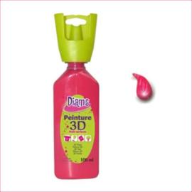 Diam's 3D verf glanzend knal roze 37 ml
