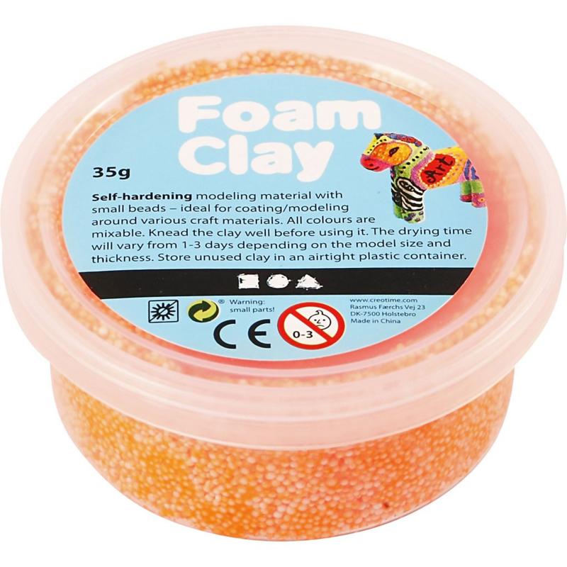 Foam Clay, Neon oranje 35 gr