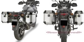 Givi kofferrek + 2 x 37 L Givi Trekker Outback set aanbieding DL 650 K4-K6