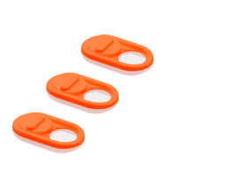3-Pack Camera-Cover type: Classic  kleur: oranje