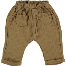 Waves Bambula Pants With Pockets Camel -  Beans Barcelona