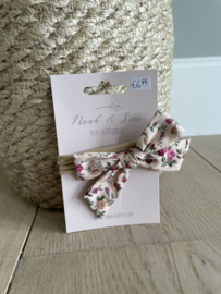 Katoenen haarbandje bloemenprint  - Noah&Sisi