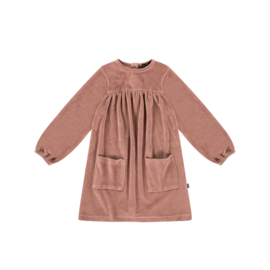 POCKET DRESS Dusty Mauve Velvet - HOJ