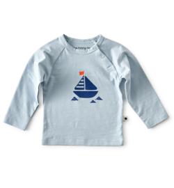 Little Label - baby raglan shirt - light blue