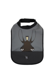 High Neck Bibs - Moose Charcoal - Babylivia