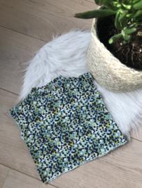 ORGANIC COTTON BLOUSE FLOWER GREEN - Riffle