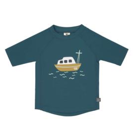 Lässig Short Sleeve Rashguard, Boat Blue