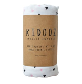Swaddle triangel pink Kidooz