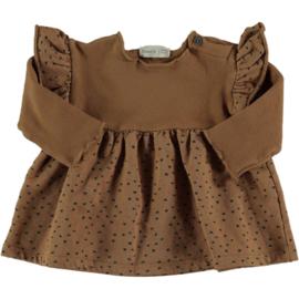 Combi warm fleece & printed dress- BeansBarcelona