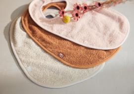 Slab badstof pale pink/nougat/caramel (3pack) - Jollein