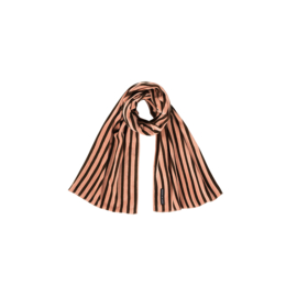 LONG SCARF Blush & Choco Stripes Velvet - HOJ