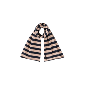 LONG SCARF Biscuit & Blue Stripes - HOJ