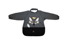 Long Sleeve Bib - Fox Charcoal - Babylivia