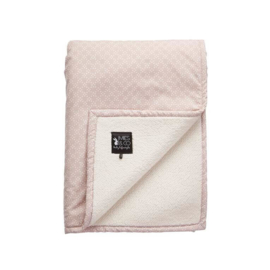 SOFT TEDDY BLANKET BIG PRETTY PEARLS - Mies en Co
