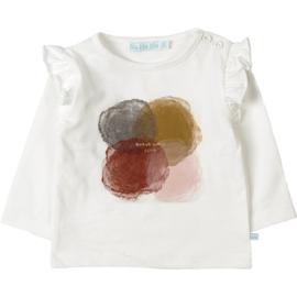 T-shirt white met print - Blablabla