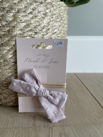 Katoenen haarbandje lila - Noah&Sisi
