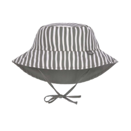 Lässig Sun Protection Bucket Hat, Stripes Olive