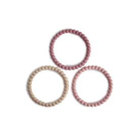 MUSHIE - SILICONE BRACELET(3PACK)LINEN/PEONY/PALE PINK