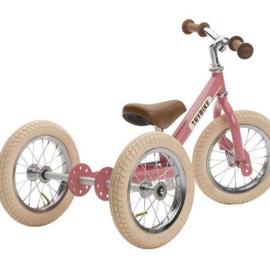 Trybike Steel loopfiets 2-in-1 - Vintage Pink