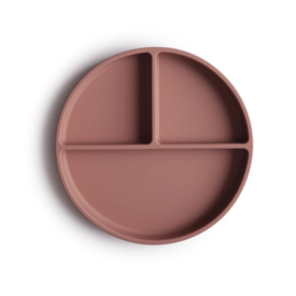 MUSHIE - SILICONE PLATE - CLOUDY MAUVE -  STICK & STAY