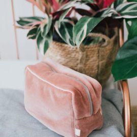 Coco and pine - toilet tas velours pink