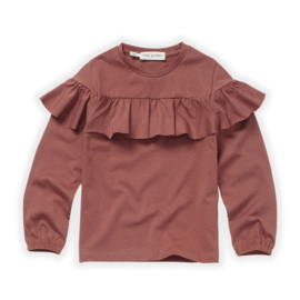 KIDS T-SHIRT RUFFLE FIG - Sproet & Sprout